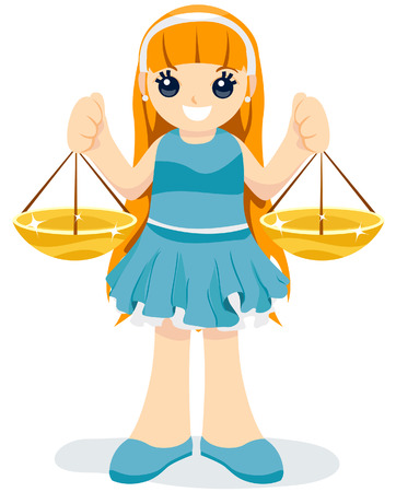 Libra Costume with Clipping Path Vector