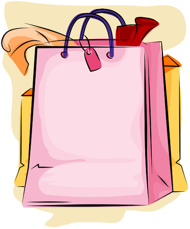 Shopping Bag with Clipping Path Vector