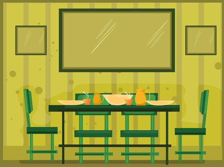 Comedor Ilustración (4 de 10) Ilustración de vector