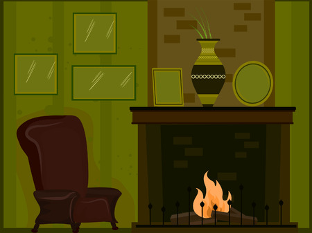 fire place: Living Room Illustration ( 5 of 10) Illustration