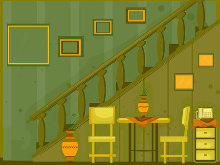 Stairs  Foyer Illustration ( 6 of 10) Vector