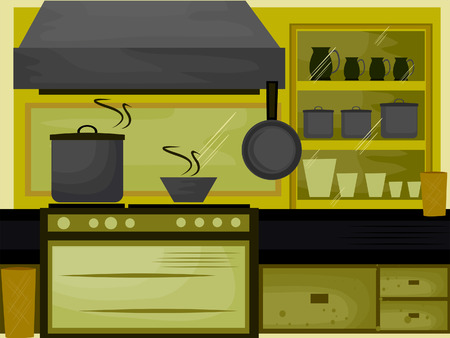 interior drawing: Kitchen Illustration (7 of 10) Illustration