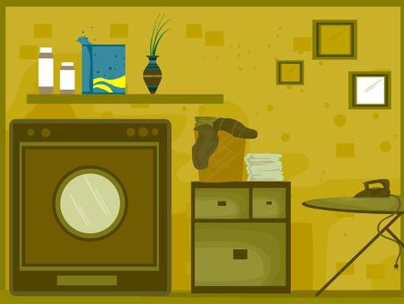 Laundry Room Illustration (8 of 10) Vector