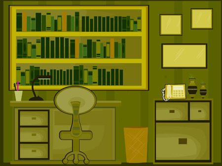 piece of furniture: Library  Home Study Illustration (9 of 10)