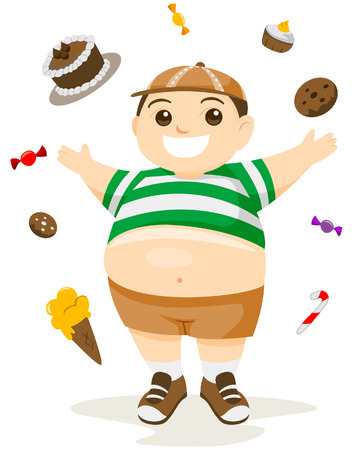 overweight: Fatty Food with Clipping Path