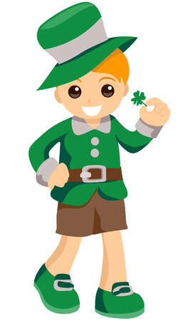 paddys: Kid in Costume with Clipping Path