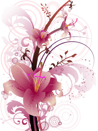Star Gazer Lily with Clipping Path Stock Vector - 4159667