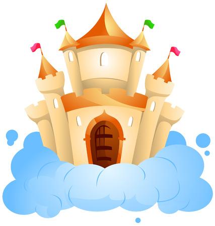 bollwerk: Schloss auf Cloud mit Beschneidungspfad