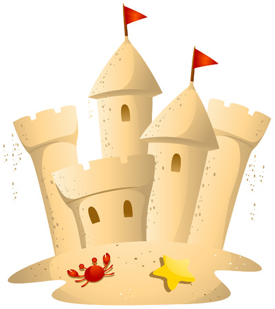 castle sand: Sand Castle con trazado de recorte
