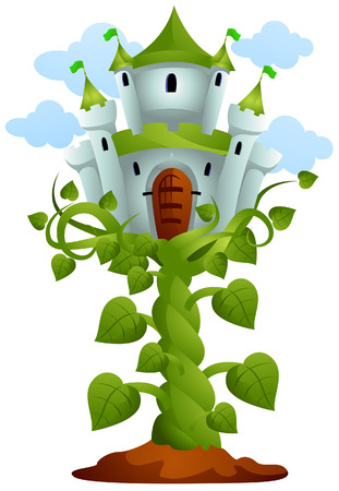Castle on Top of Vines with Clipping Path Stock Vector - 4198410