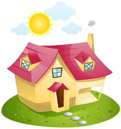 Cartoon House with Clipping Path Stock Vector - 4198403
