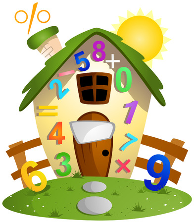 Math House with Clipping Path Vector