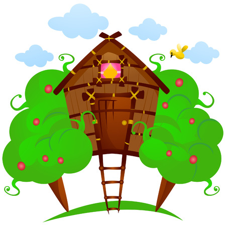 Tree House with Clipping Path Vector