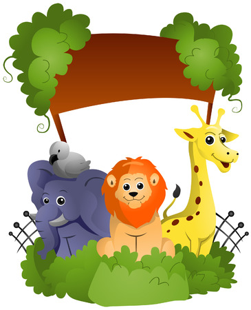 Zoo Entrance with Clipping Path Vector
