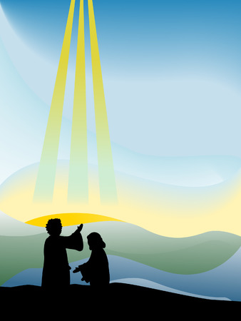 baptism background: Baptism of Christ Silhouette Series