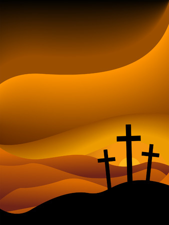 cross vector: Good Friday Silhouette Series Illustration