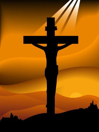 j�sus croix: S�rie de silhouette vendredi  Illustration