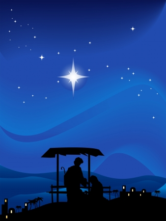 The Nativity Illustration Silhouette Series Stock Vector - 4206145