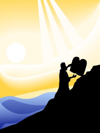 The Ten Commandments Silhouette Series Stock Vector - 4206144