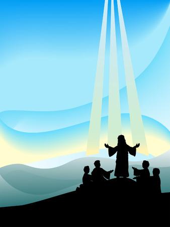Transfiguration of Christ Silhouette Series Stock Vector - 4206151