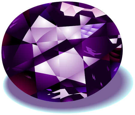 Amethyst Birthstone with Clipping Path Stock Vector - 4211415