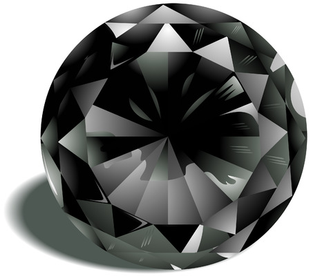 Diamond Birthstone with Clipping Path Stock Vector - 4211405