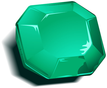birthstone: Emerald Birthstone with Clipping Path Illustration