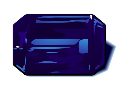 sapphire: Sapphire Birthstone with Clipping Path