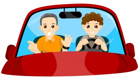 test drive: Student Driver with Clipping Path