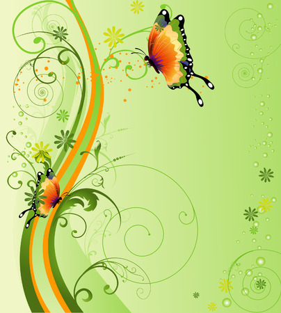 butterfly vector: Floral Design Illustration for Background Illustration