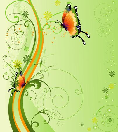 grunge vector: Floral Design Illustration for Background Illustration