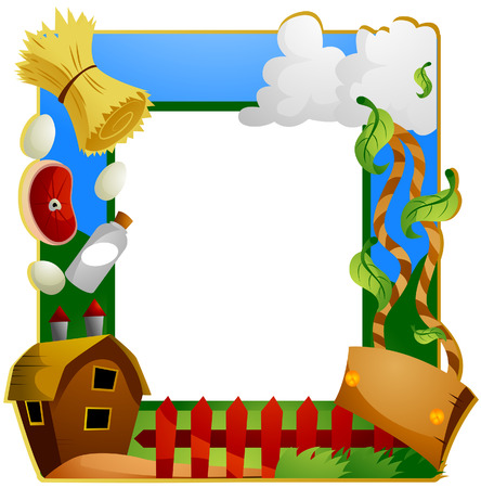 Farm Frame with Clipping Path Stock Vector - 4285183