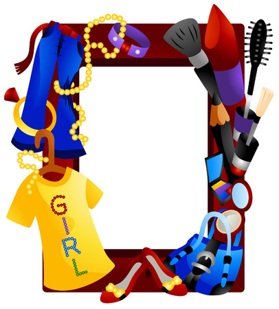 Fashion Frame with Clipping Path Vector