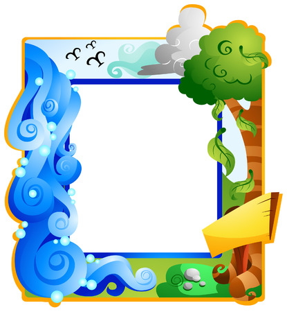 Summer Frame with Clipping Path Vector