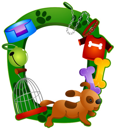 Pet Frame with Clipping Path Vector