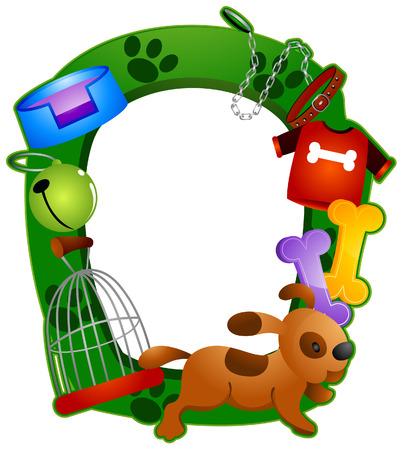 gabbie: Pet Telaio con Clipping Path