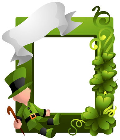 St. Patrick's Frame with Clipping Path Stock Vector - 4285185