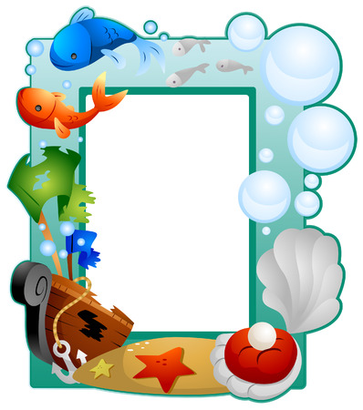 Under the Sea Frame with Clipping Path Vector