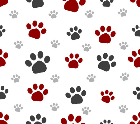 Seamless Pet Paws Design for Background Vector