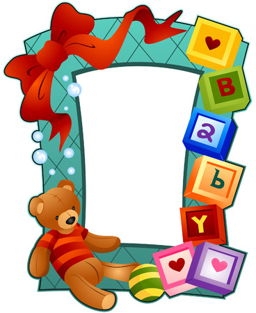 Baby Frame with Clipping Path Stock Vector - 4311244