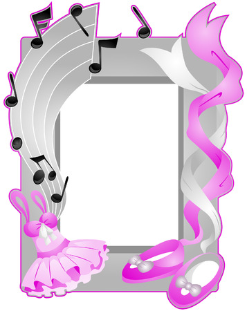 Ballet Frame with Clipping Path Vector