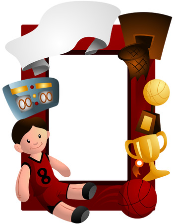 Basketball Frame with Clipping Path Vector