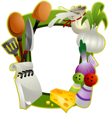 ingredient: Cooking Frame with Clipping Path Illustration