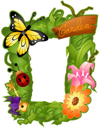 Nature Frame with Clipping Path Vector