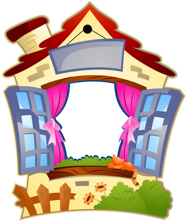 House Frame with Clipping Path Stock Vector - 4311246