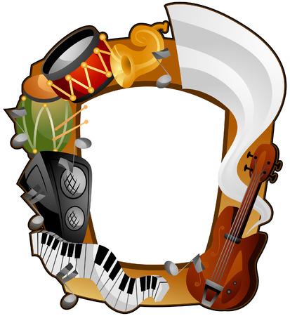 楽器: クリッピング パスを持つ楽器フレーム