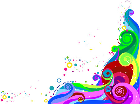 colourful: Abstract Wave Design for Background with Clipping Path