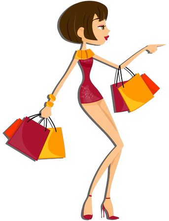 Shopping Girl with Clipping Ruta