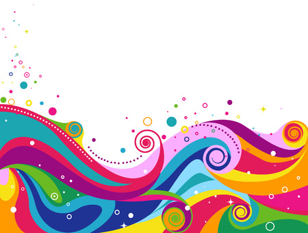 round: Abstract Wave Design for Background with Clipping Path