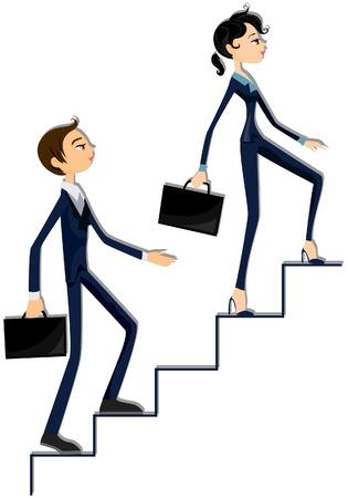 Business Ladder Illustration